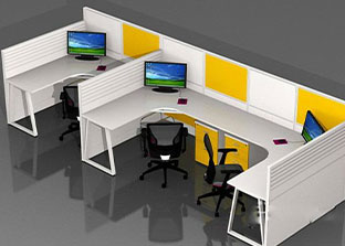 不同形状的员工办公桌分别有什么优势?