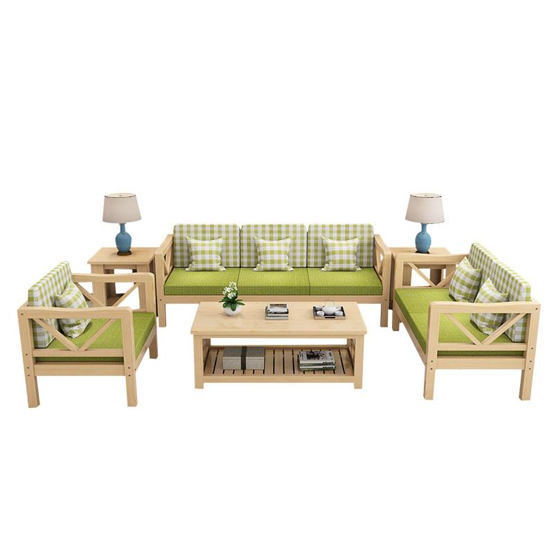 浪源实木沙发组合