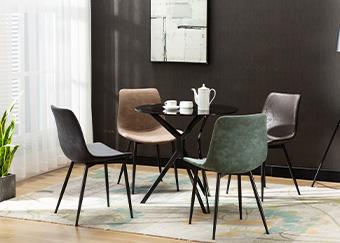润源餐桌椅组合五件