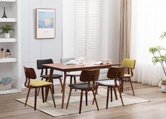 润源餐桌椅组合七件