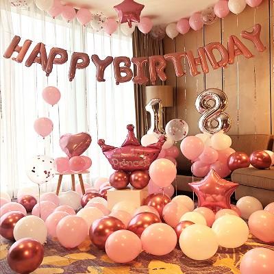 教你怎么用气球布置生日惊喜房间